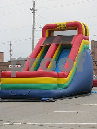 One of the activities set up for the Sunday School Rally.