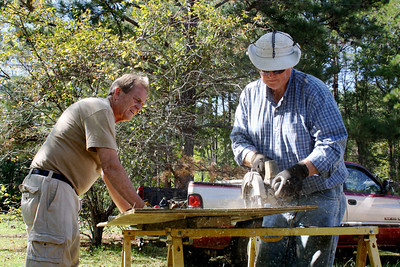 President David Snell works with Warren Johnson in Andersonville. 10-7-2011