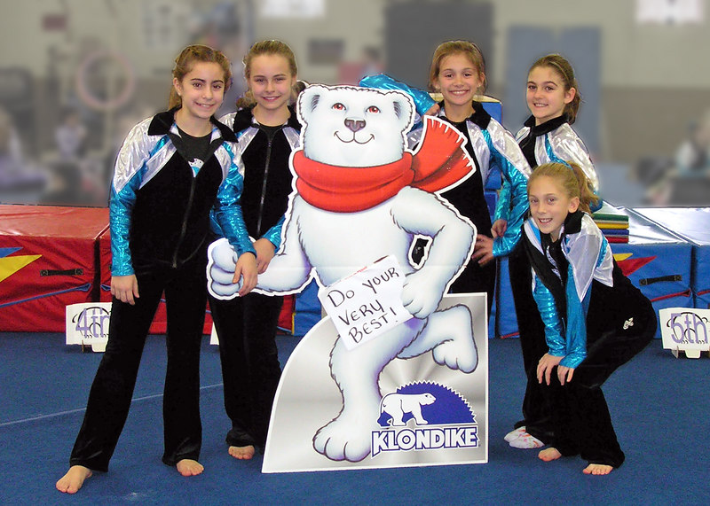 "Gold Medal Gymnastics Team Photo<br /> <br /> file #:  9016 a1 5X7<br /> <br />      Help us assure your satisfaction with purchased prints and gifts - PLEASE click ""prints & gifts"" below for important ordering information. Thank You!"