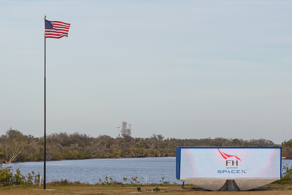 Falcon Heavy at the Pad at T minus 1 day