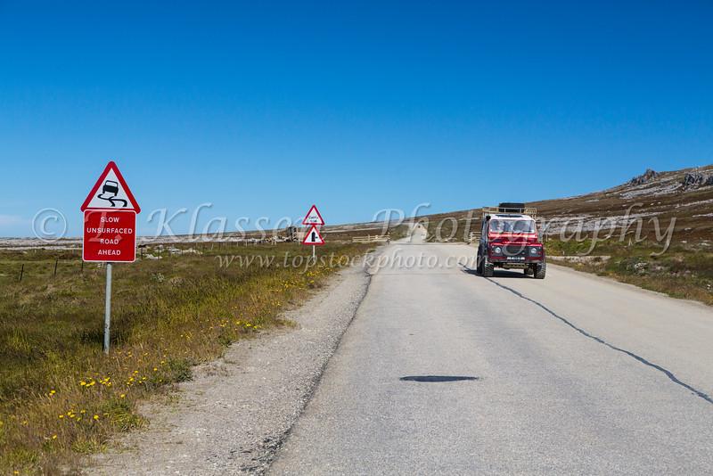 The peat bogs of East Falkland Island, British Overseas Territory.