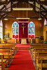 The St. Mary's Catholic Church interior sanctuary in Stanley the Capital of the Falkland Islands on East Falkland, British Overseas Territory.