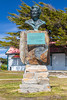 A monument to Margaret Thatcher in Stanley the Capital of the Falkland Islands on East Falkland, British Overseas Territory.