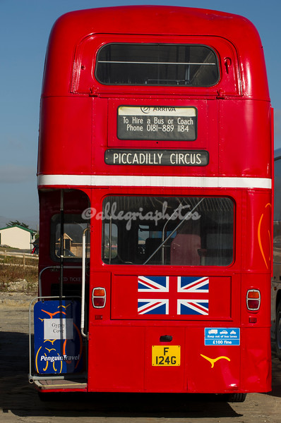A London double decker bus in Stanley.