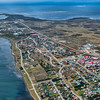 An aerial view of Stanley, Falkland Islands