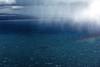 Un grain sur le Falkland Sound séparant East Falkland de West Falkland/ Iles Falkland (Iles Malouines)