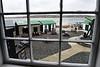 Vue de la cour de l'Historic Dockyard Museum à Port Stanley/East Falkland/ Iles Falkland (Iles Malouines)