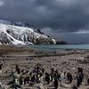 Incoming snowstorm at St Andrews Bay