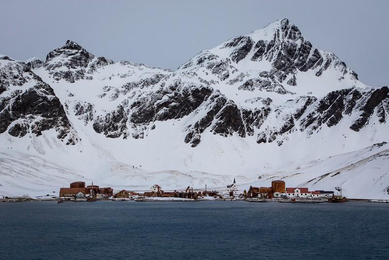 Sailing into Grytviken, South Georgia