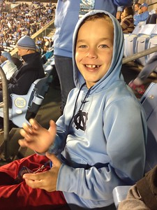 UNC Football game courtesy of the Holliday Family (after Dylan and Nick had 2 games in Charlotte)