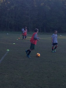 One of Dylan's last practices of the fall before the time changed! U10 YDA Academy Team (barcelona)
