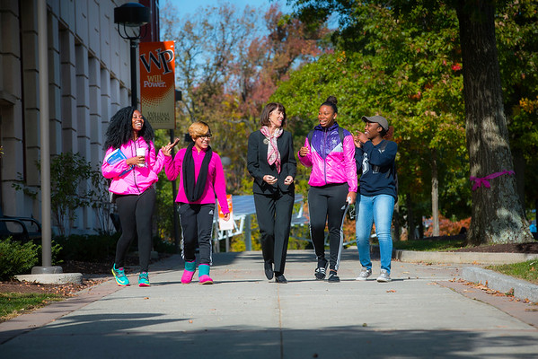 President Waldron with Students 10_15