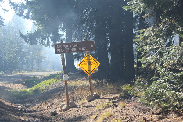 We decided to turn around here - we've had enough of smoke for the year!