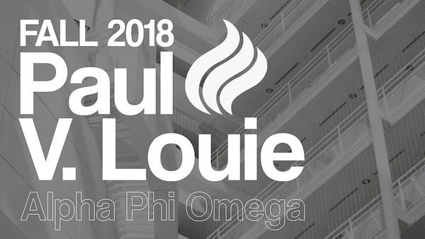 Fall 2018 - Paul V. Louie