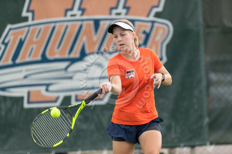 Wheaton College Women's Tennis Team in action