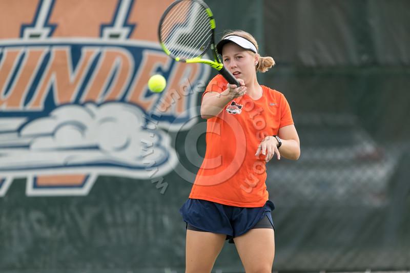 Wheaton College Women's Tennis Team in action