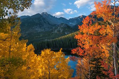 Fall over Bear Lake - Longs Peak