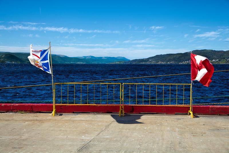 Newfoundland & Labrador flag & Canadian flag