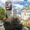 Public art, with Quebec City Town Hall in the background