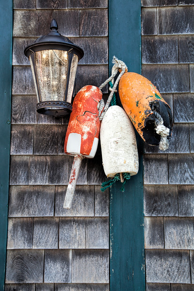 Lobster trap buoys, Winter Harbor