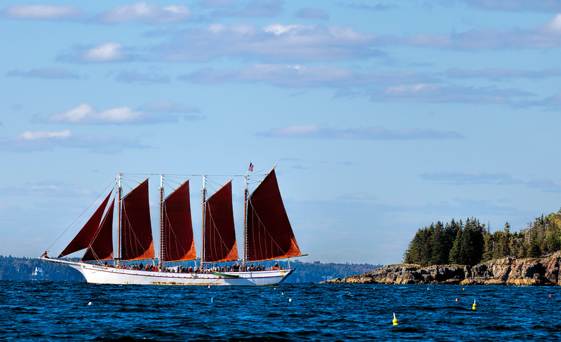 Schooner, Frenchman Bay, near Bar Harbor