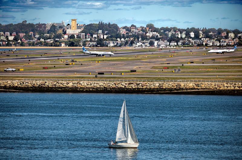 Boston Harbor and Logan Airport