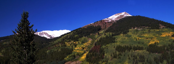Mt. Aspen has many ski runs and is the principle draw of people to Aspen during the winter.