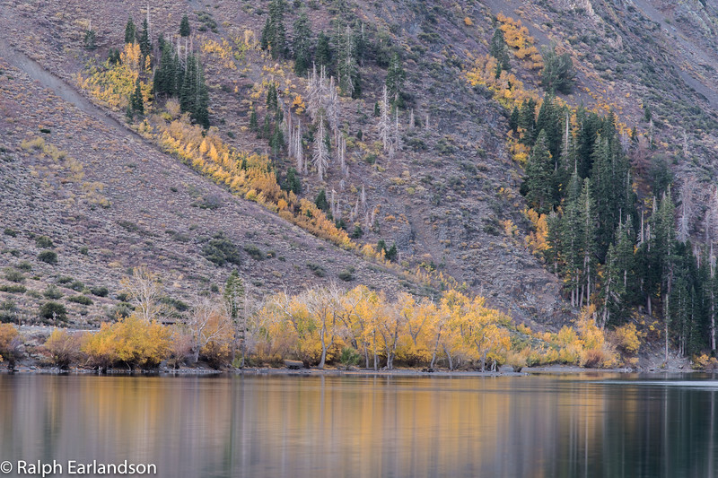 Fall colors on Convict Lake in the eastern Sierras.