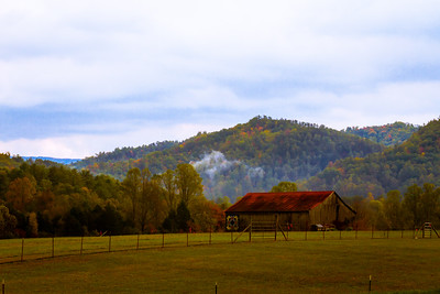 Fall View from Townsend with Mist