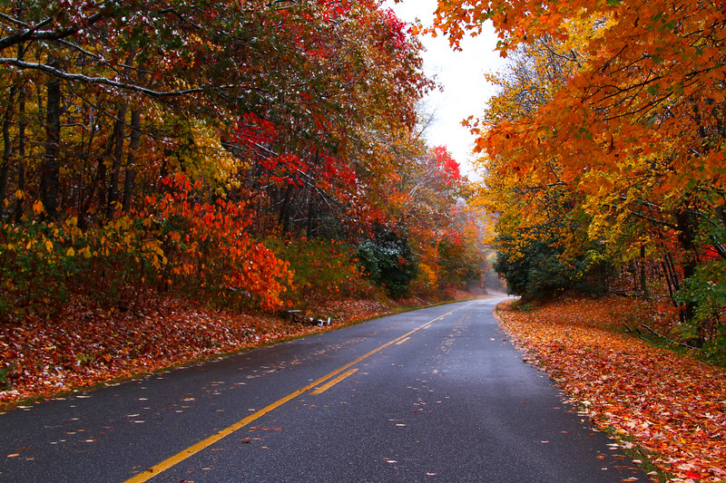Smokey Mountains National Park - Blue Ridge parkway in fall 2011