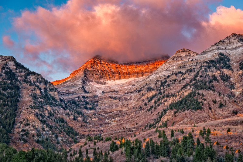 First Light on Mount Timpanogos