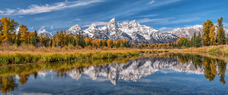 Fall Reflections at Schwabacher Landing