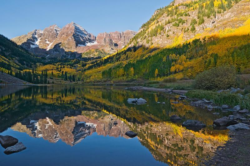The Maroon Bells near Aspen, Colorado