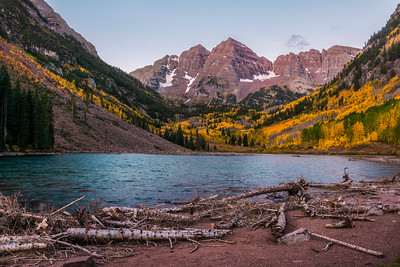 at Maroon Bells, Colorado