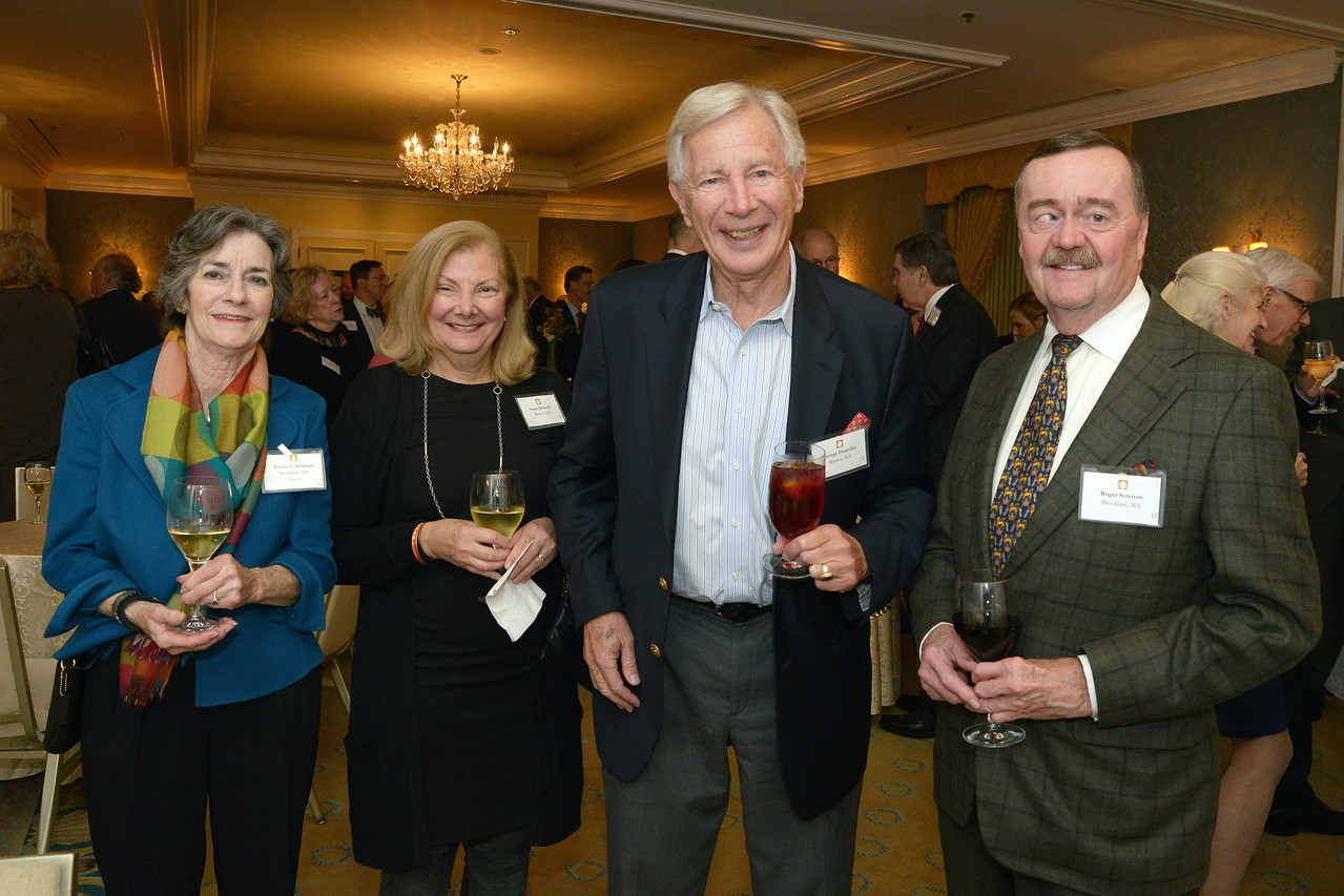 Trustee Kristen Servison and Roger Servison with guests