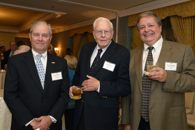 NEHGS Councilor Tom Wilcox, Trustee Emeritus Bill Crozier and Trustee Peter Steingraber