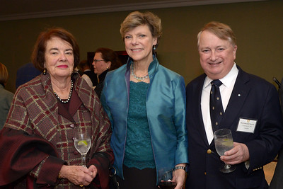 NEHGS Councilors Bonnie Reilly and Mark Kimball Nichols with Cokie Roberts