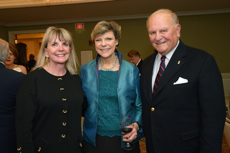NEHGS Councilor Carron Haight, Trustee Tom Hagen and Cokie Roberts