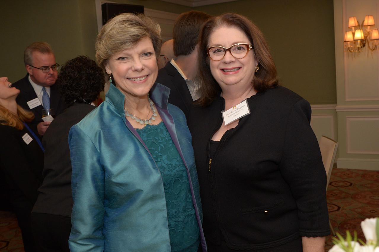 NEHGS Councilor Karen Pogoloff and Cokie Roberts