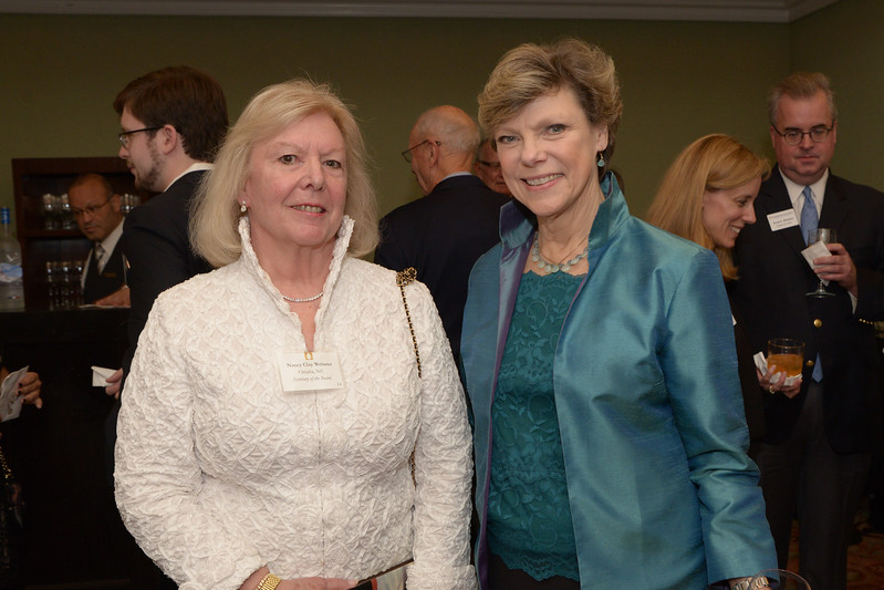 NEHGS Trustee Nancy Clay Webster and Cokie Roberts