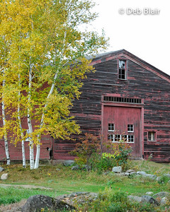 Red Barn in Temple, NH - 1