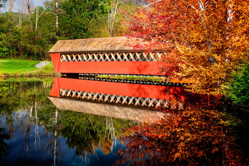 Covered bridge near Woodstock, New Hampshire