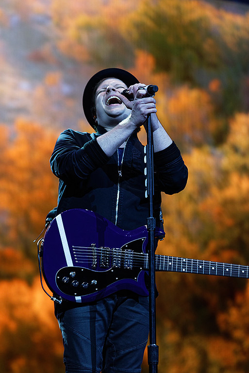 . Fall Out Boy live at Little Caesars Arena on 10-24-17..  Photo credit: Ken Settle
