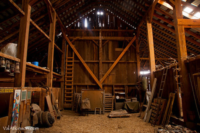 Frank Lawrence built barn. Randy Howsman now owns it.