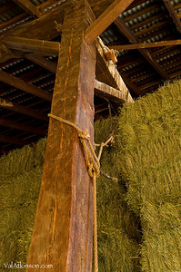 barn beam in Oscar Jensen's barn