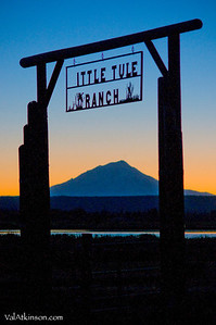 Gate post for Little Tule ranch.