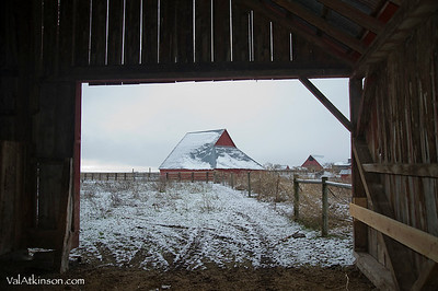 George Brown barns on Fall River. Now part of Smith Ranch.