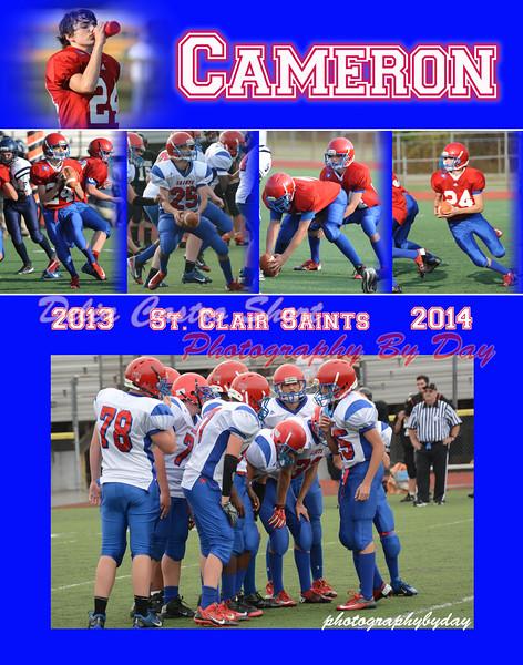 Cameron JabiroFootball 2013-2014 11x14