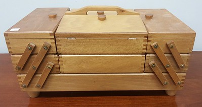 Loaded sewing basket