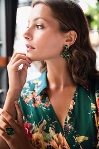 Selene Earrings / Dark Moss Green